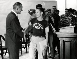 Senator_Lyndon_B_Johnson_Visits_Campus